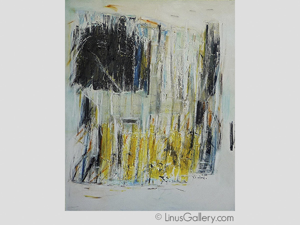 abstraction open call for artists art gallery Abstracts 2015 Artist Yehudit Englard | Untitled | Oil Painting
