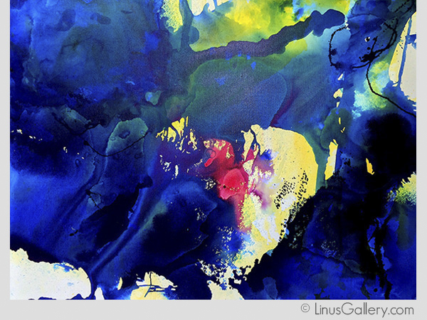 contemporary art gallery abstract Abstracts 2015 Artist Grace Modla | Indigo Sacré Couer | Acrylic Painting, Mixed Media