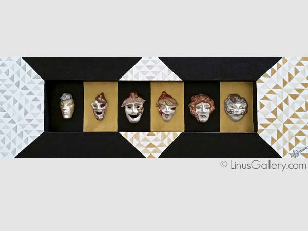 collage art gallery los angeles Montage Artist Jimena Becerra | The Masks of the Emotions